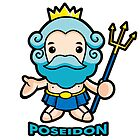 The sea and the water god Poseidon by Boians