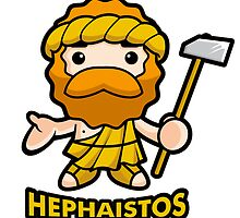 God of fire Hephaestus by Boians
