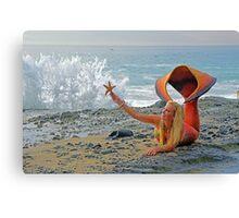 Mermaid with Sea Star Canvas Print