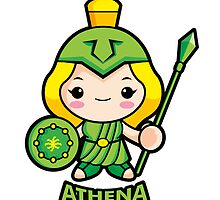 Goddess of war Athena by Boians