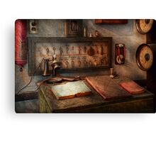 Steampunk - Electrical - My 9 to 5 job  Canvas Print