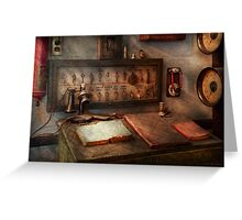 Steampunk - Electrical - My 9 to 5 job  Greeting Card