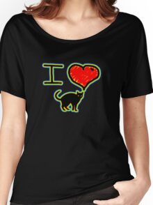 i love black cats Women's Relaxed Fit T-Shirt