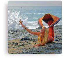 Mermaid with Starfish Canvas Print