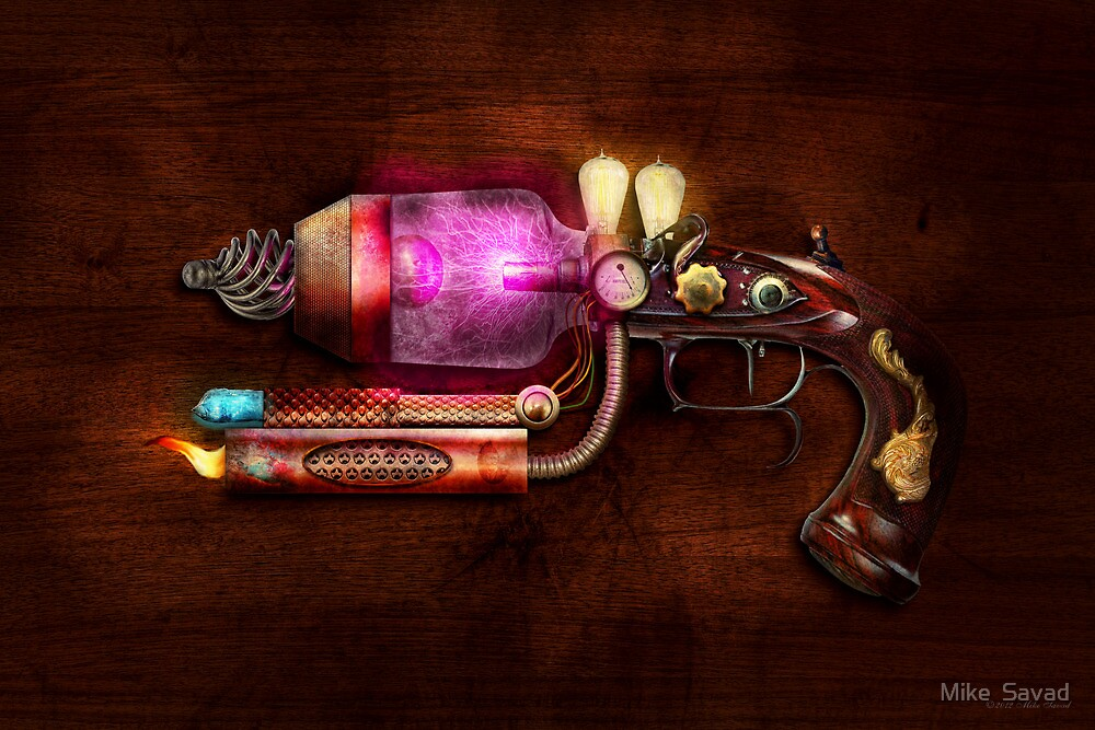Steampunk - Gun -The neuralizer by Mike  Savad