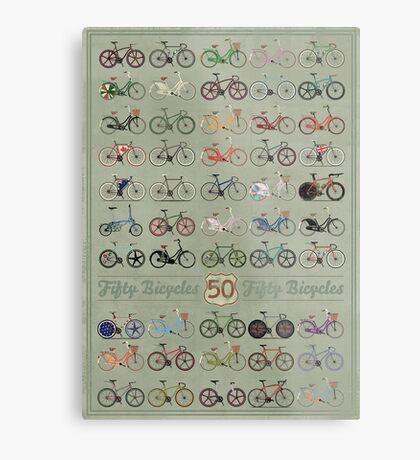 Fifty Bicycles Metal Print
