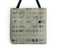 Fifty Bicycles Tote Bag