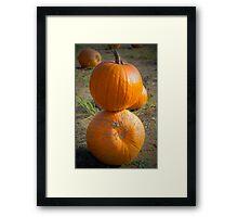 Pumpkin Stack Framed Print