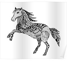Horse Drawing Poster