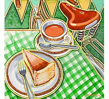 Eroica Britannia Bakewell Pudding and cup of tea on green Photographic Print