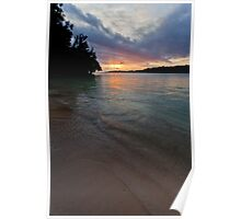 Sunset on water, Vanuatu, South Pacific Ocean Poster