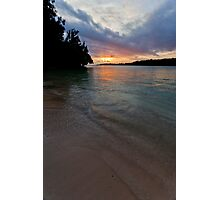 Sunset on water, Vanuatu, South Pacific Ocean Photographic Print