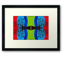 Diverging Growth in Nature Framed Print