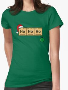 Chemistry Christmas Womens Fitted T-Shirt