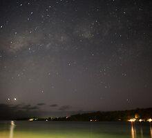 Stars in night sky, Vanuatu, South Pacific Ocean by Sharpeyeimages