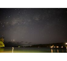 Stars in night sky, Vanuatu, South Pacific Ocean Photographic Print