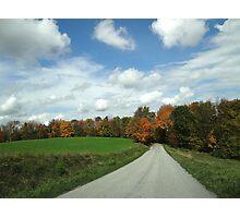 Scenic fall ride Photographic Print