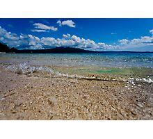 Seashore waves, Vanuatu, South Pacific Ocean Photographic Print