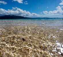 Seashore waves, Vanuatu, South Pacific Ocean by Sharpeyeimages
