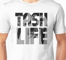 'Tash Life' Moustache Inspired Hip Hop (inverted) Unisex T-Shirt