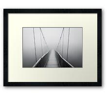 Grandfather Mountain Heavy Fog - Bridge to Nowhere Framed Print