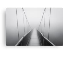 Grandfather Mountain Heavy Fog - Bridge to Nowhere Canvas Print