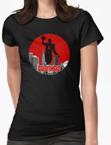 Godzingis - Red Womens Fitted T-Shirt