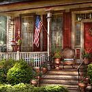 House - Porch - Belvidere, NJ - A classic American home  by Mike  Savad