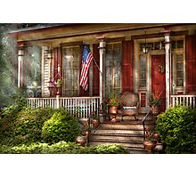 House - Porch - Belvidere, NJ - A classic American home  Photographic Print