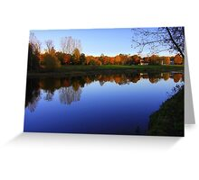 Autumn Afternoon, River Tees, Croft on Tees Greeting Card