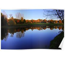 Autumn Afternoon, River Tees, Croft on Tees Poster