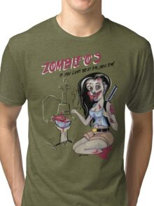 Zombie'o's part of a unconventional breakfast. Tri-blend T-Shirt