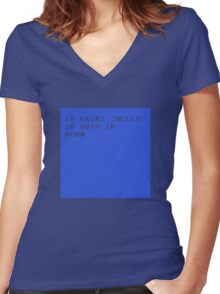 Basic Women's Fitted V-Neck T-Shirt