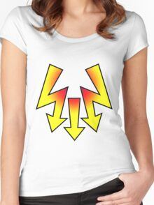 thunder, flash Women's Fitted Scoop T-Shirt