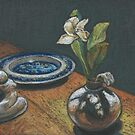 Night Still Life- miniature pastel by maria paterson