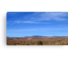 Three Helicopters in A Row Canvas Print