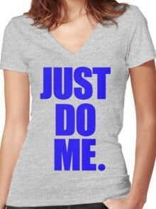 Just Blue Me Women's Fitted V-Neck T-Shirt