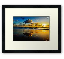 Blue and Gold.... Framed Print