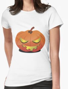 scary pumpkin Womens Fitted T-Shirt