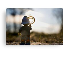 Inspecting the Sun Canvas Print