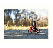 Gorillas bike, too Art Print
