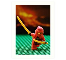 The Red Ninja Art Print