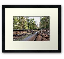 Down on the tracks Framed Print