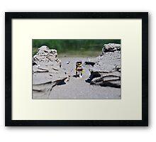 Hike the beach Framed Print