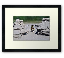 Hike the beach Framed Print