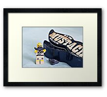 Mustache Madness Framed Print