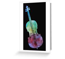 Colorwashed Violin Greeting Card