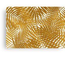 Gold Foil Palm Leaves Canvas Print