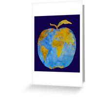 Earth Apple Greeting Card