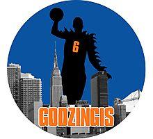 Godzingis- Blue Photographic Print
